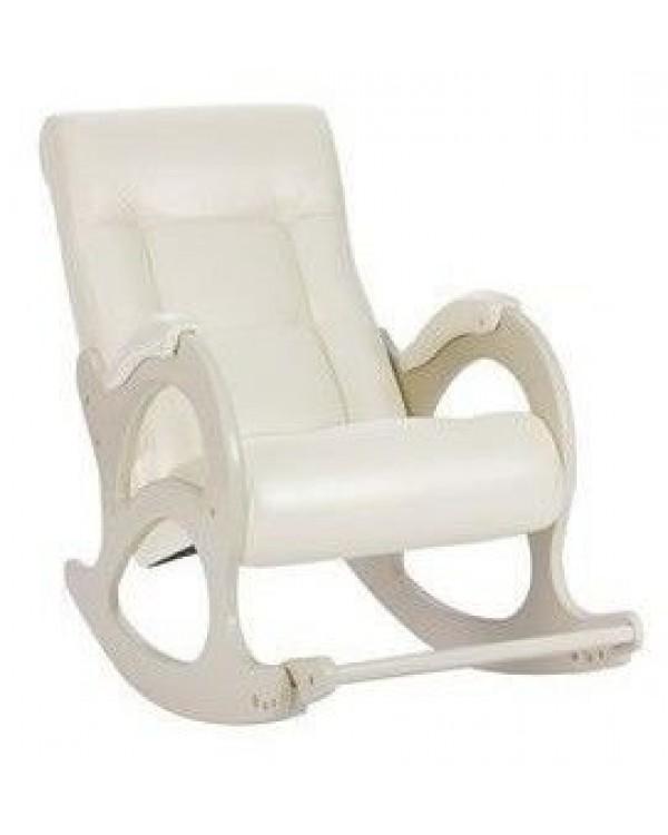 Кресло-качалка, Модель 44 б/л сливочный экокожа