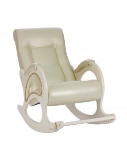 Кресло-качалка, модель 44 экокожа сливочный