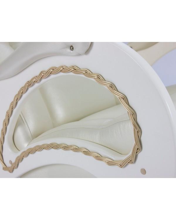 Кресло-качалка, Модель 44 сливочный экокожа