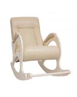 Кресло-качалка, модель 44 б/л экокожа сливочный
