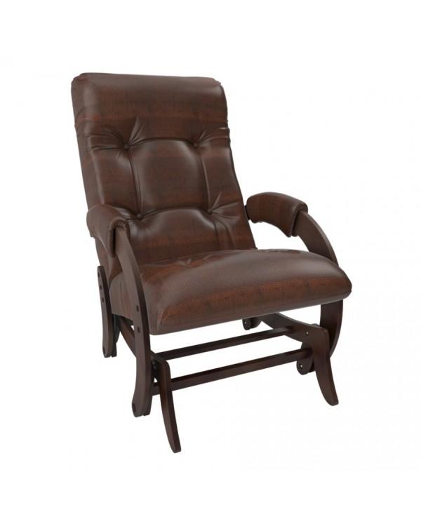 Кресло-гляйдер Модель 68 экокожа орех