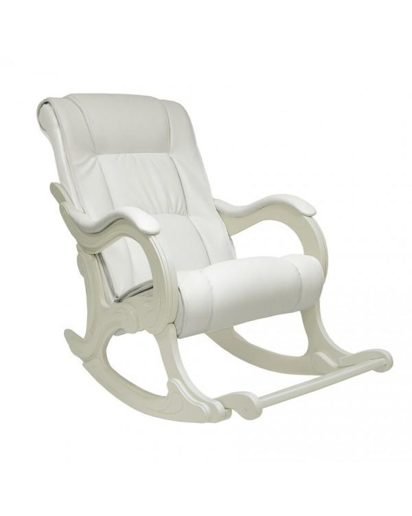 Кресло-качалка, Модель 77сливочный Экокожа