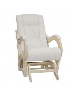 Кресло-глайдер, Модель 78 экокожа сливочный