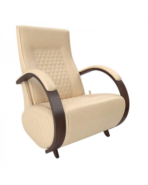 Кресло гляйдер Balance-3 экокожа орех