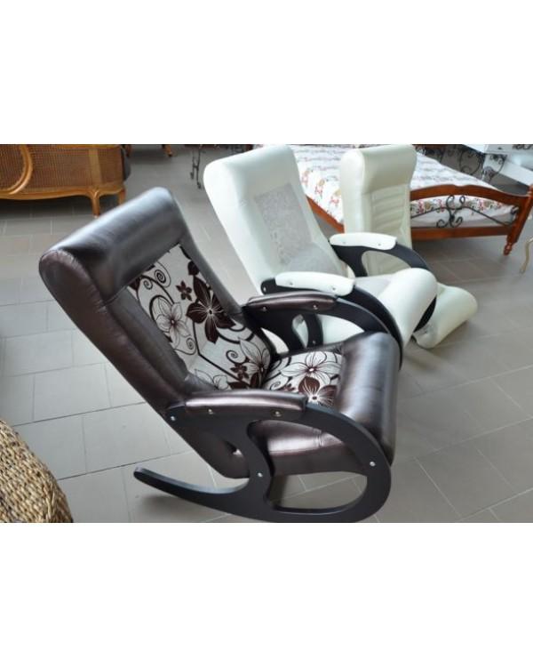 Кресло-качалка Бастион 3 экокожа красная