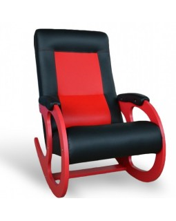 Кресло-качалки 3 экокожа красная