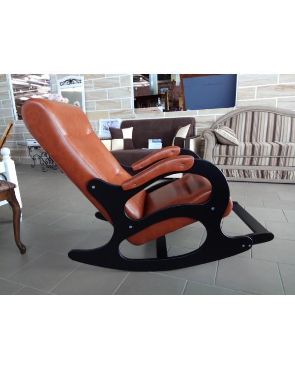 Кресло-качалка Бастион 2 с подножкой экокожа