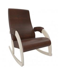 Кресло качалка Модель 67M Экокожа сливочный