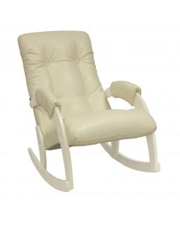 Кресло качалка Модель 67 Экокожа сливочный