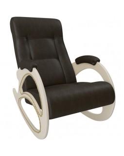 Кресло-качалка, Модель 4 экокожа сливочный