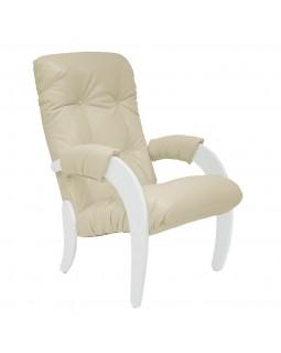 Кресло для отдыха Модель 61 экокожа сливочный