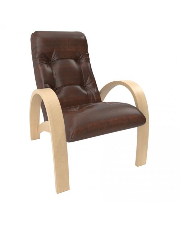 Кресло для отдыха Модель S7 натуральное дерево