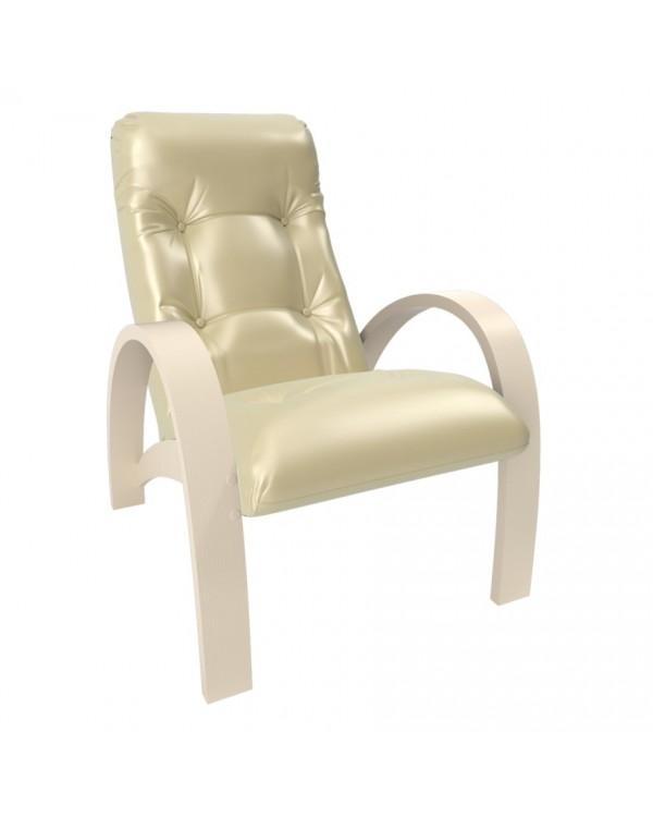 Кресло для отдыха Модель S7 экокожа сливочный
