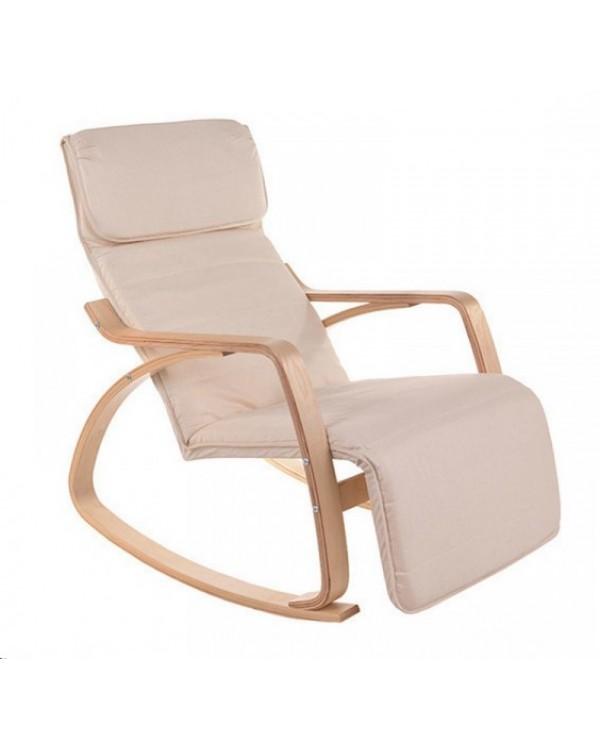 Кресло-качалка Relax F-1101 бежевое