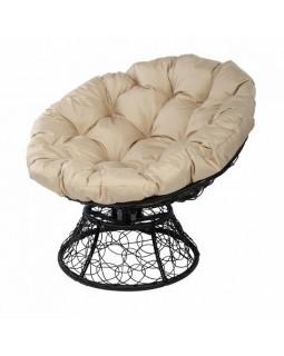 Кресло Papasan с пружиной черный