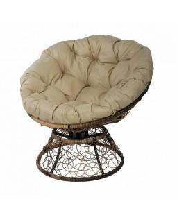 Кресло Papasan с пружиной светло-коричневый